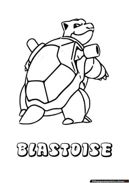 blastoise coloring page pokemon