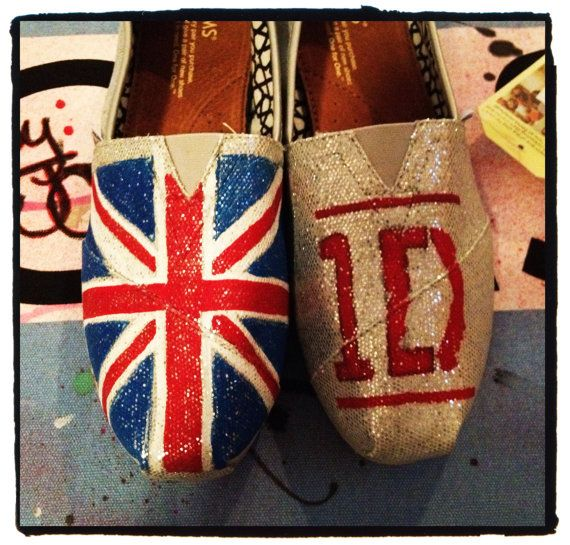 One Direction Custom Toms Shoes by CustomTOMSbyJC on Etsy, $100.00