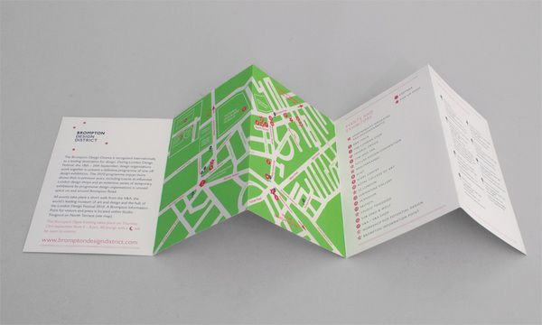 A map highlighting key locations and events within the Brompton Design District in west London, for the London Design Festival. For Irving & Co.