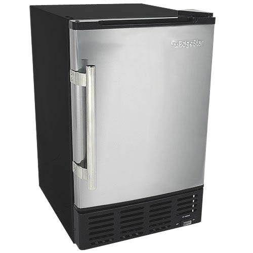 EdgeStar 12 Lbs. Built-In Ice Maker - Stainless Steel/Black