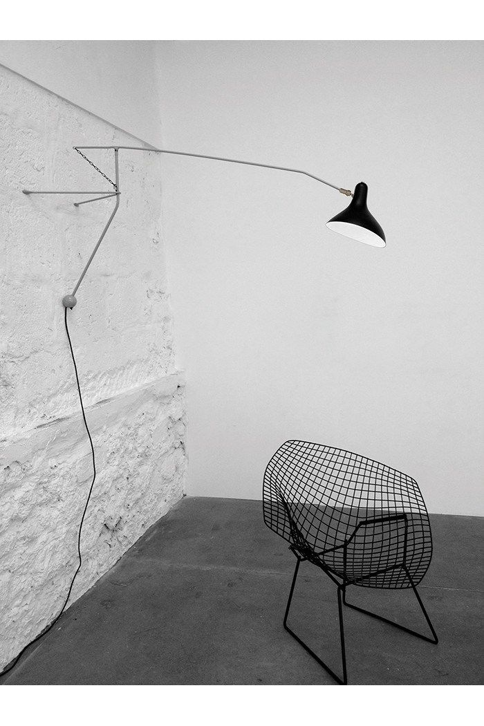 Wall lamp with swing arm BS2 by DCW éditions design Bernard Schottlander