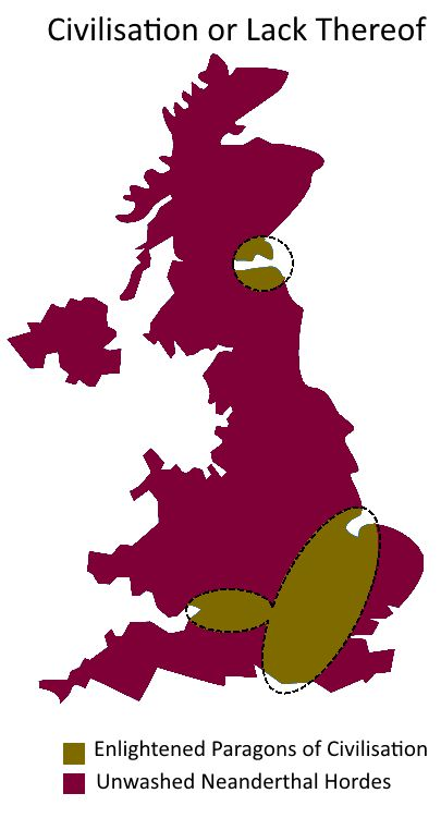 UK Divided By Civilisation (Or Lack Thereof)