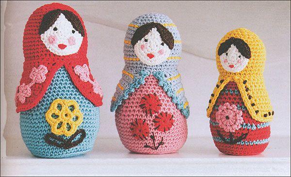 Crochet nesting dolls! Crochet ideas Pinterest Dolls, Book and Crochet