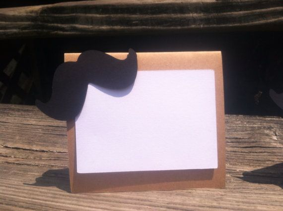Mustache Food Tent Cards/Food Tags/Food Labels