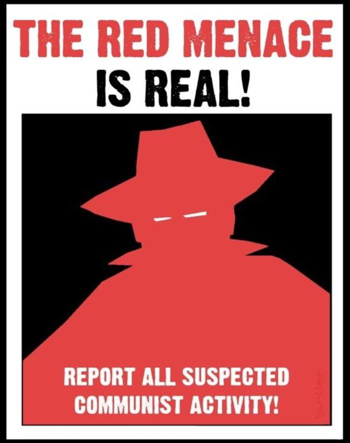 Mccarthy Era Anti Communist Poster