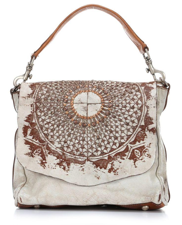 Campomaggi Lavata Gothic Hobo Leather white 29 cm - C2032LAVL-3132 - Designer Bags Shop - wardow.com