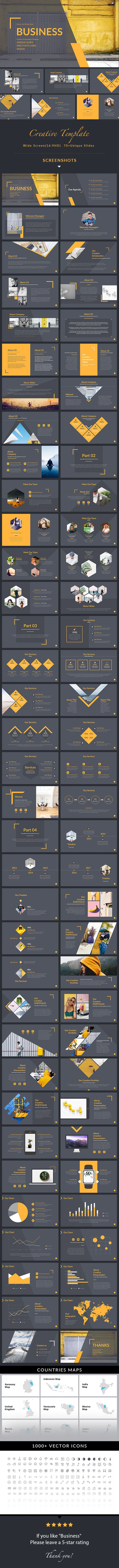 Business - Simple Multipurpose #Powerpoint Template - Business PowerPoint #Templates Download here:  https://graphicriver.net/item/business-simple-multipurpose-powerpoint-template/20363632?ref=alena994