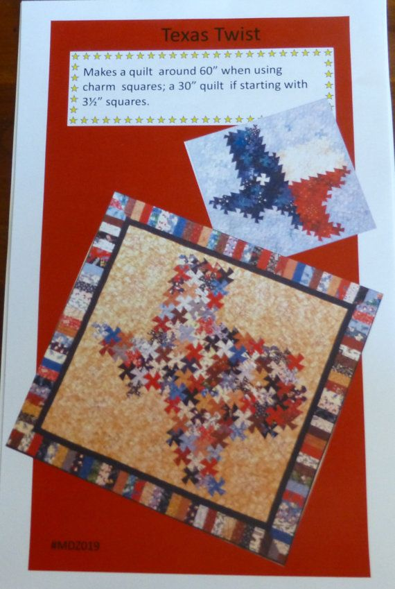 Free Twisted Pinwheel Quilt Pattern : Pattern, Quilt, Wall Hanging, Home Decor,- Texas Twist, 2 Sizes, Fast Shipping pt117 Quilt ...