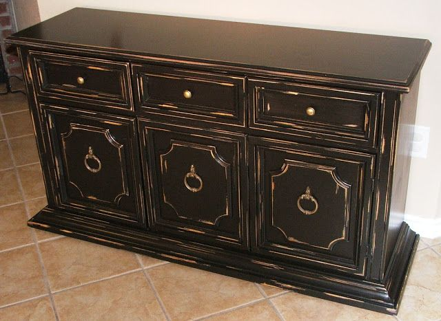 1000+ Ideas About Black Distressed Cabinets On Pinterest