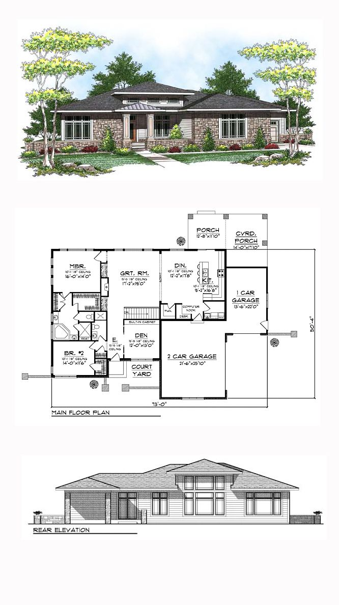 50 best southwest house plans images on pinterest floor plans prairie style southwest house plan 73443