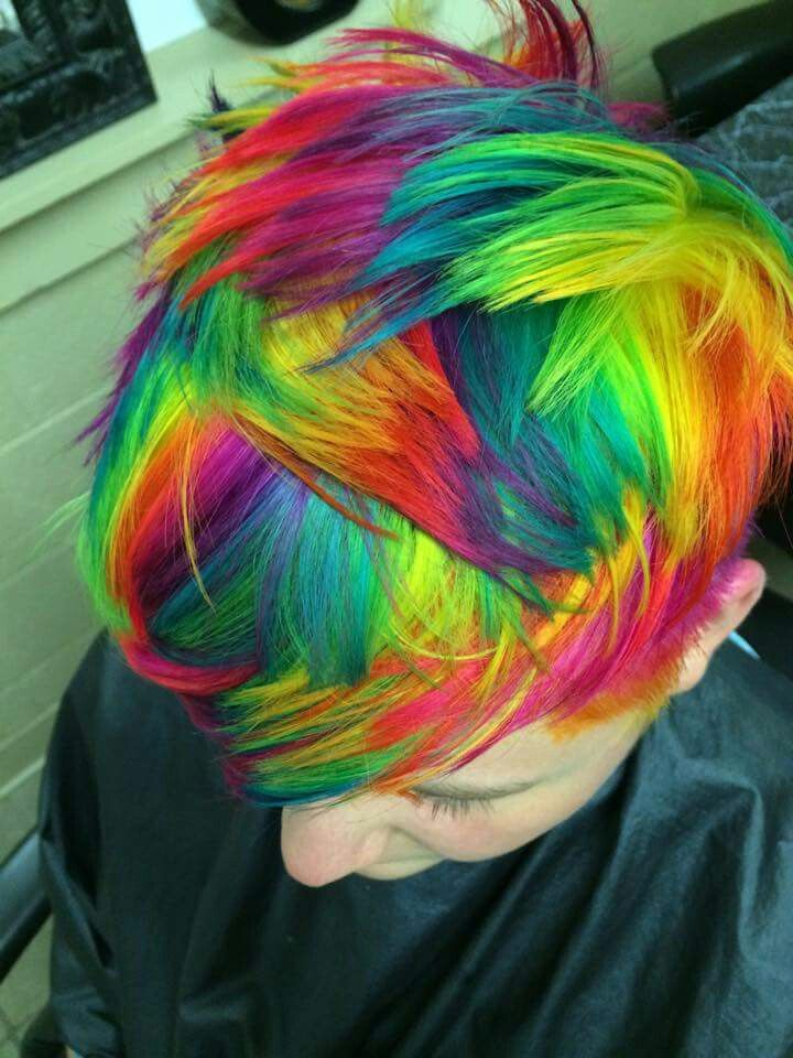 New Hair Color Techniques: Tie Dye Hair