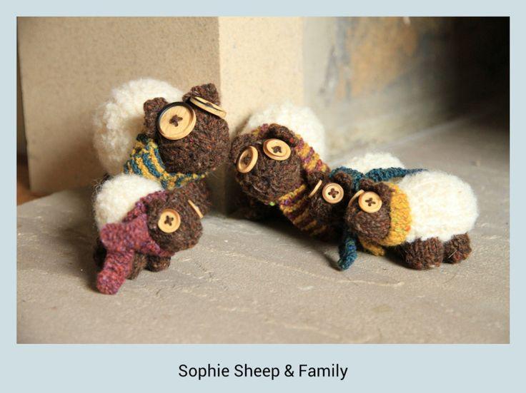 Sophie Sheep & Family #knitted #sheep #Rowan