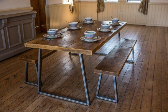 Welcome To Our Advert For A Rustic Industrial Plank Top Dining