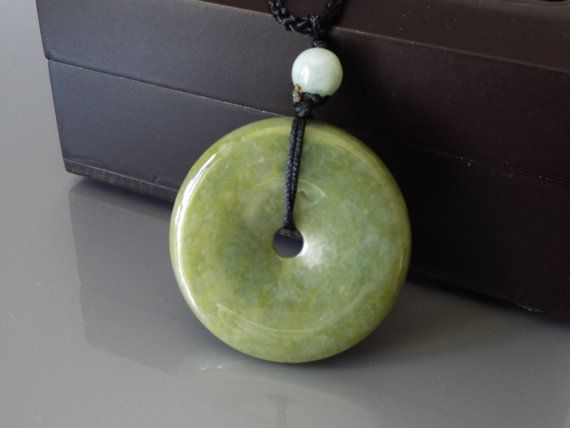Pi Disc Donut Jadeite Jade Fei Cui 翡翠 by Vintagecollection888