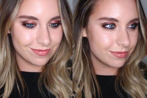 Get a makeover at a makeup counter