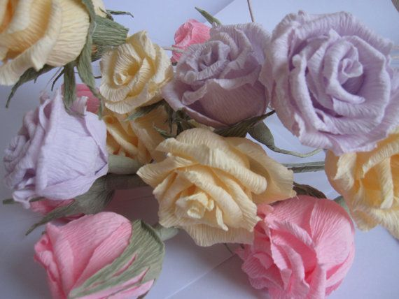 10 pcs loos ROSES ANY COLUOUR you choose by moniaflowers on Etsy