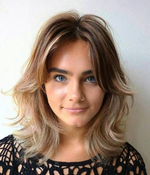 Shoulder Length Hairstyles For Dark Brown Hair : Best 20 curtain bangs ideas on pinterest parted fringe