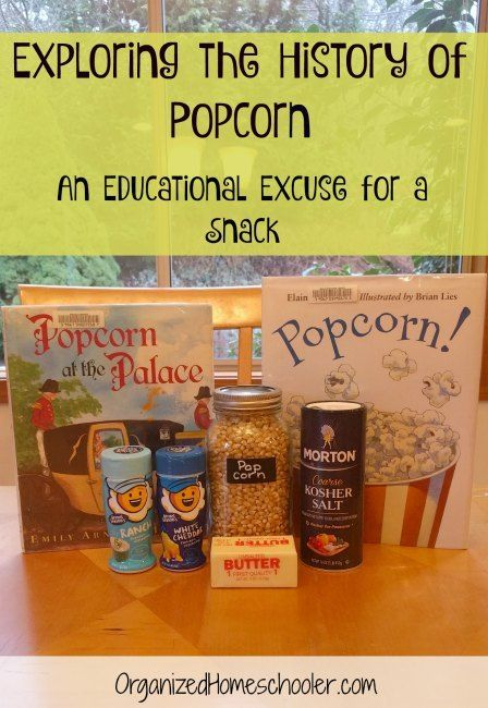 Popcorn can be a fun educational manipulative!  Learn about the history of popcorn. #homeschool #popcorn #snacktime