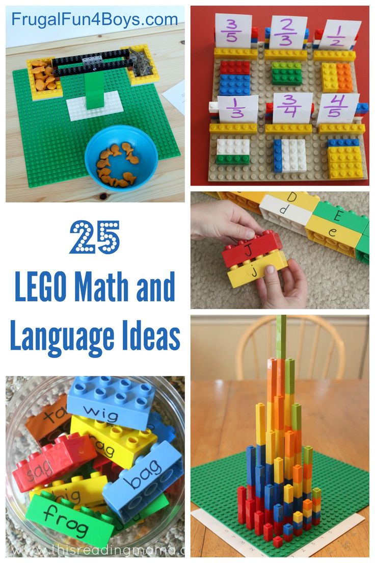 LEGO Learning: 25 Math and Language Ideas for Preschool through Third Grade