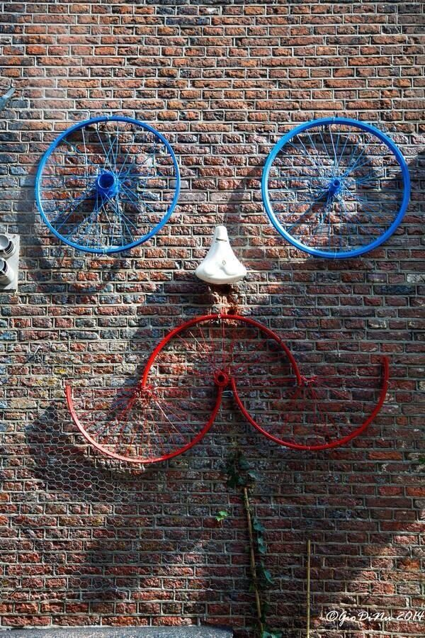 Wall Art with Bicycles - Happy with a Moustache! www.redrockbicycle.com