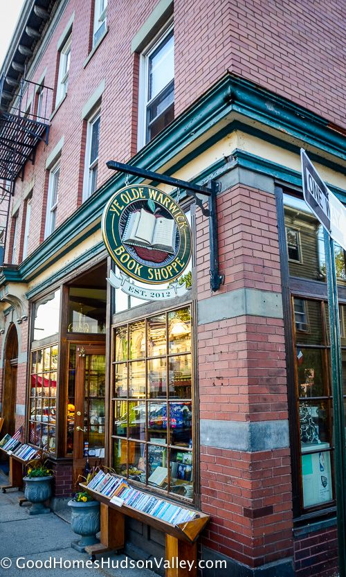 The Ye Olde Warwick Book Shoppe at downtown Warwick, New York -  http://www.realestatehudsonvalleyny.com/orange-towns/warwick/