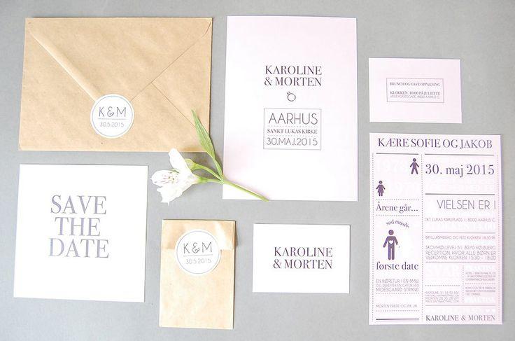 Modernisme i Danmark | Bryllupsinvitasjoner i personlig design