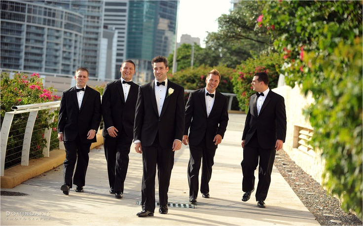 #Groom and #Ushers going to meet The #Bride and her #Bridesmaids :) @Mandarin Oriental Hotel Group in Miami:) #Wedding Photography by www.DominoArts.com