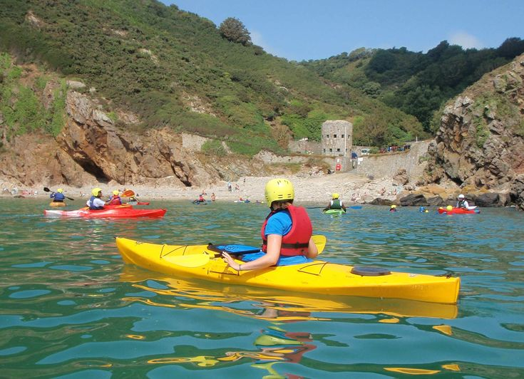 Saints Bay is one of the most beautiful parts of the island to go kayaking.
