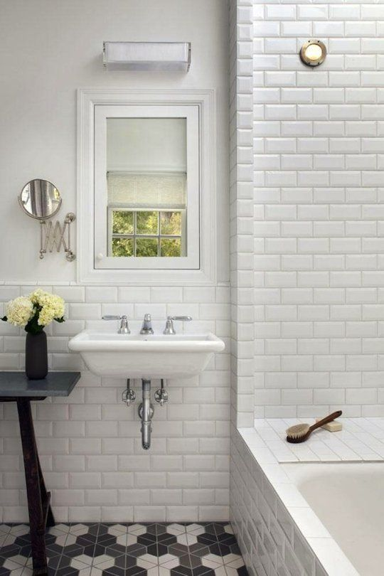 White Subway Bathroom Tile best 25+ beveled subway tile ideas on pinterest | white subway