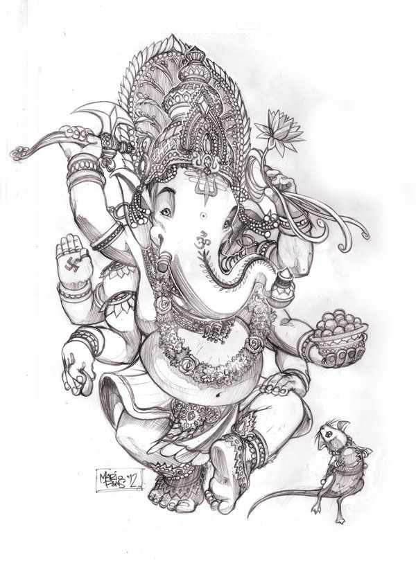 Ganesha by MarioPons on deviantART