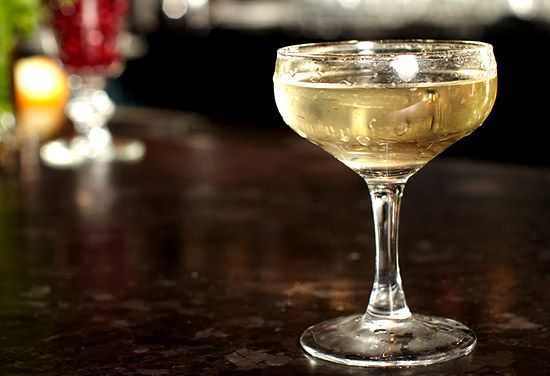 Gin Blossom Cocktail - 1.25oz London dry gin, .75oz Lillet Blanc, .5oz St Germain Elderflower liqueur
