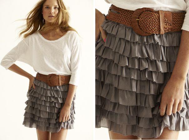 ruffle love.: Outfits, Colors Combos, Ruffles Skirts, Fashion, Style, Ruffle Skirt, Cowboys Boots, Cute Skirts, Belts