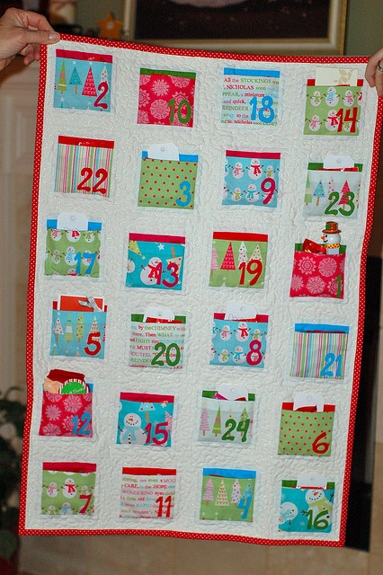 Advent quilt - this is dang cute.