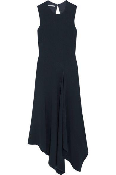Stella McCartney - Cutout Asymmetric Stretch-cady Dress - Midnight blue - IT