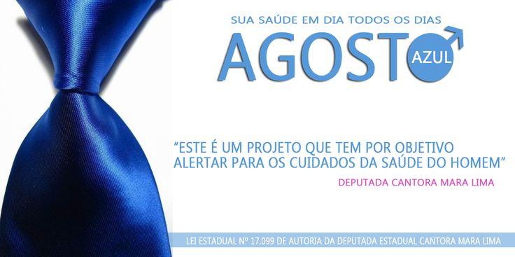 """O Projeto de Lei """"Agosto Azul"""" é de iniciativa da Cantora e Deputada Estadual Mara Lima - Este é um projeto que tem por objetivo alertar para os cuidados da saúde do homem, em especial com o câncer de próstata. Parabéns a Deputada Mara Lima pela iniciativa, e vamos juntos continuar transformando o Paraná!  #AGOSTOAZUL  #Elamerepresenta #Sou45123 #VotoCantoraMaraLima #PoliticadoBem"""