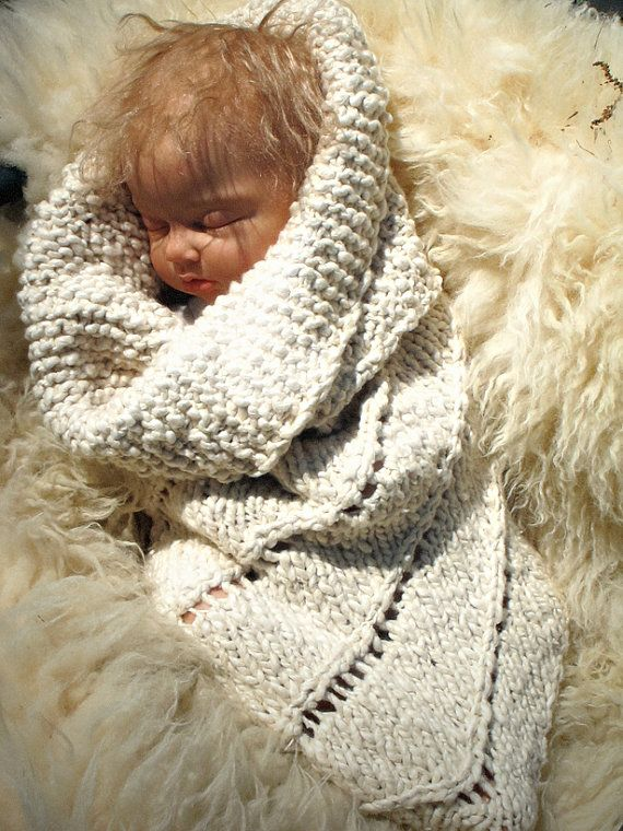 Organic Baby Cocoon Cotton Newborn Bunting The Baby by broodbaby, $88.00