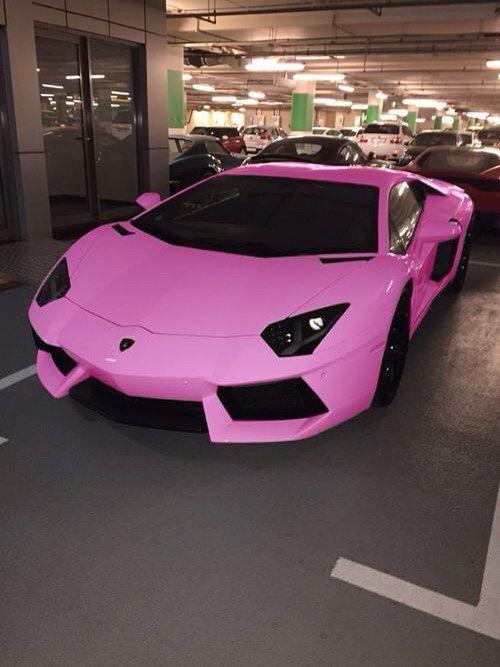 imagen de car pink and lamborghini