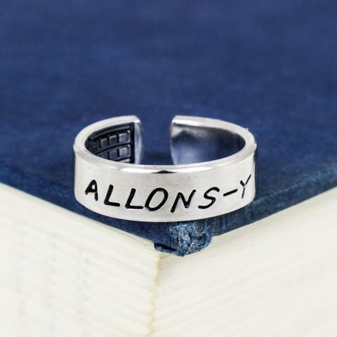 Allons-y - Doctor Who - TARDIS - Adjustable Aluminum Ring - It Came From the Internet