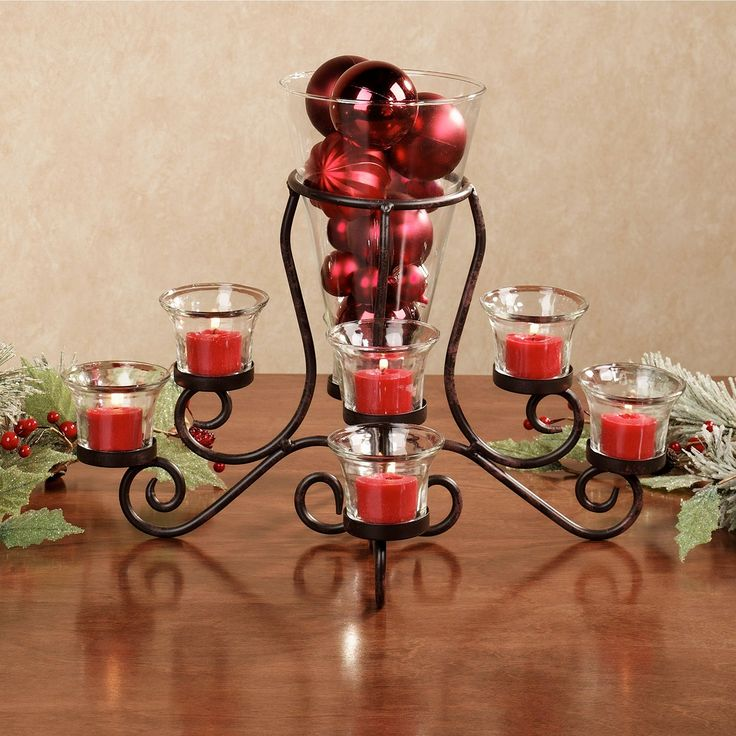 Glass candle holders centerpieces home brilliance