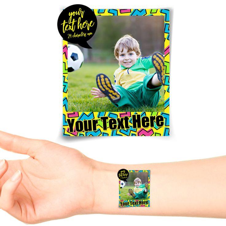 Retro Polaroid Photo Personalised Tattoo #1180 (20 pack)