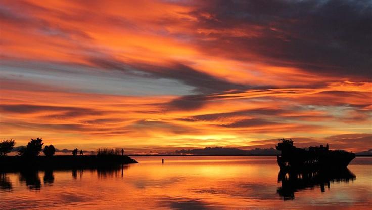Motueka Wharf at Sunset