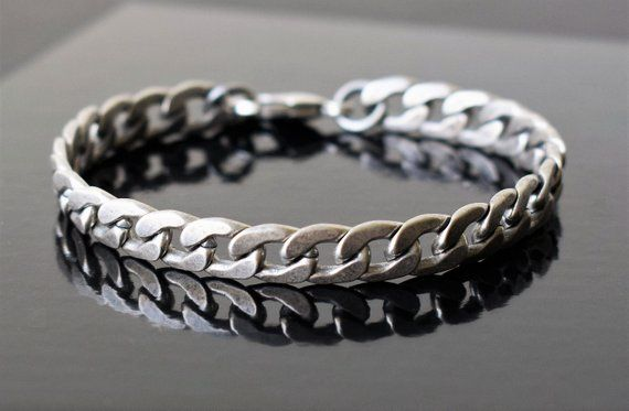 Mens Bracelet, Men Silver Bracelets, Bracelet Men, Men Chain Bracelet, Elegant Bracelet Men ,Men Jewelry, Men Bracelet Gift – Wishlist