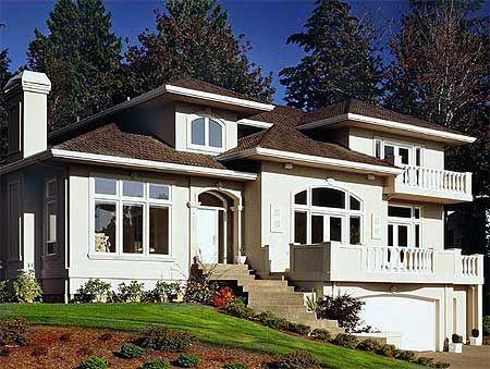 Raised house plans drive under garage popular house for Raised house plans with garage underneath
