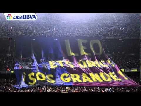 La afición azulgrana se rinde al mejor Messi