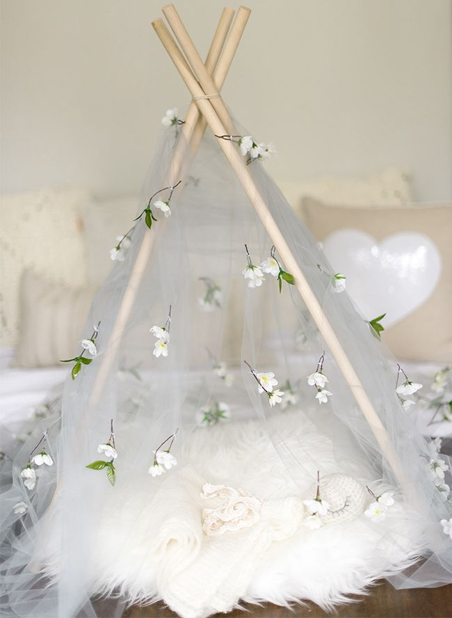 Floral Teepee Newborn Photos - Inspired By This