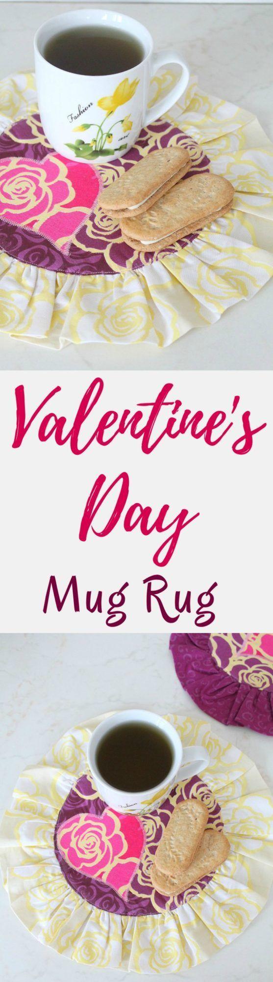 VALENTINE MUG RUG SEWING TUTORIAL Need