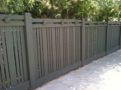 Designer fence in Mission Hills landscape