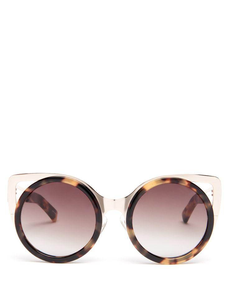 X Linda Farrow cat-eye sunglasses   Erdem   MATCHESFASHION.COM US