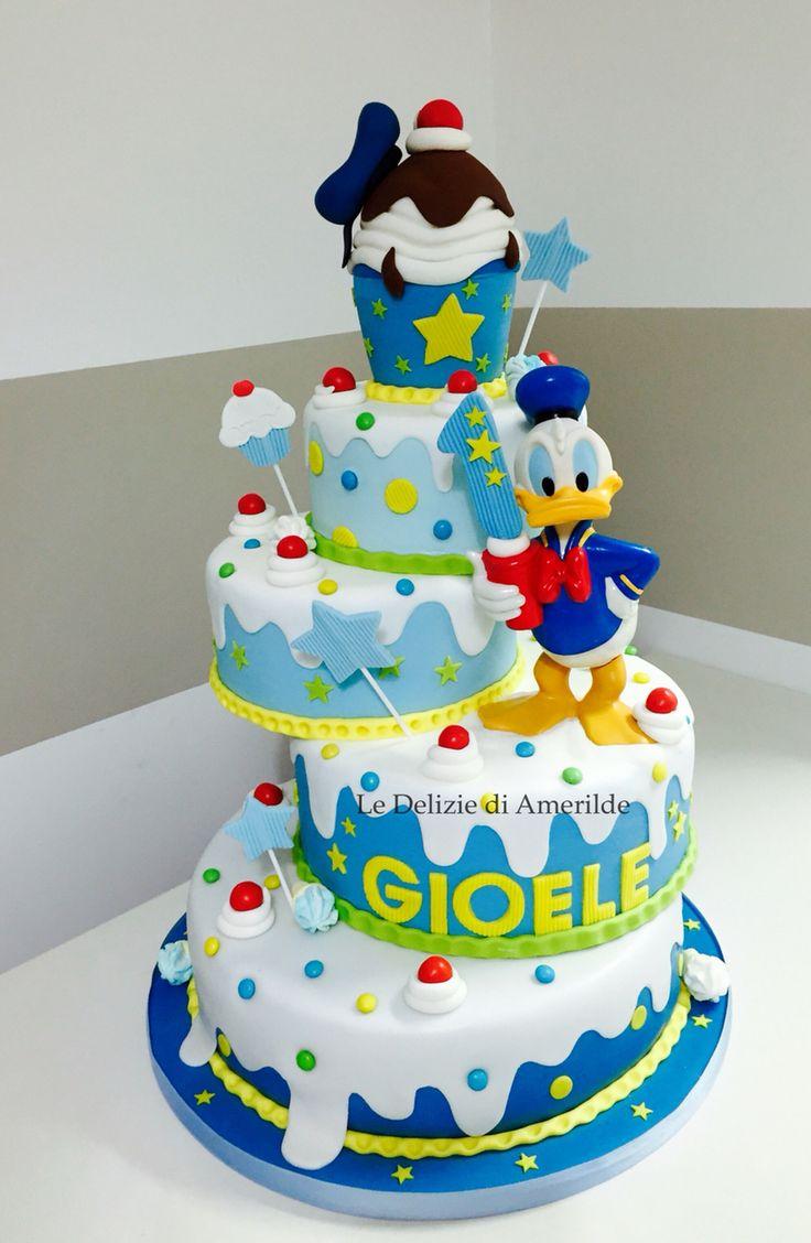 Le Delizie di Amerilde.  Baby cake. Donal duck. www.ledeliziediamerilde.it
