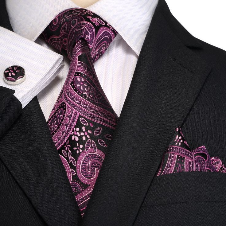 Slim tie - Large paisley in purple, gold and blue Notch